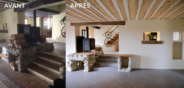 Rénovation d'une maison dans le Jura vaudois.